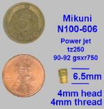 Gicleur de ralentie Mikuni,N100-606,power_jet